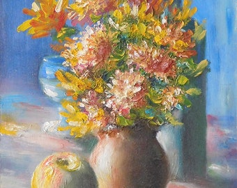 Autumn flowers - original oil painting