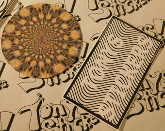 "Cool ""Kaleidoscope"" Graphic Laptop Stickers"
