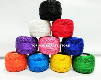 10 x 10 grams Coats Anchor Pearl Cotton Crochet Threads Size 8