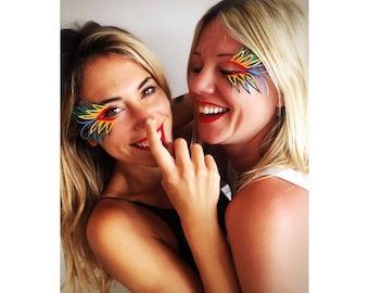 RAINBOW PRIDE LASHES festival eyelashes