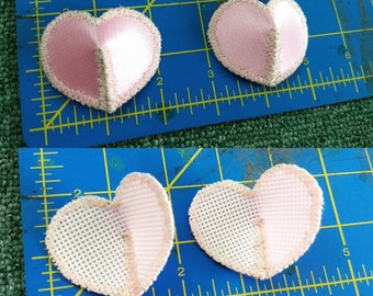 Heart shaped pasties - plain