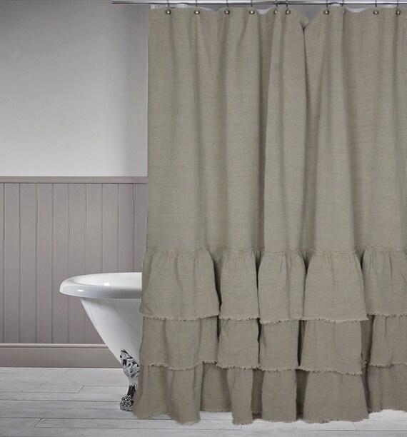 Bath Linen Curtains Shower Linen Curtains Grey Linen