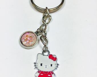 Hello Kitty Keychain Kitty with Crazy Eyes