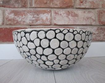 ceramic big bowl home decoration  bowl modern bowl handmade pottery natural beige clay