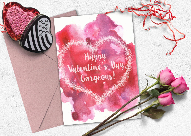 love card printable valentine greeting card romantic