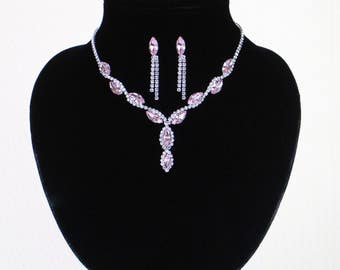 Crystal Bridal Jewelry Sets Imitation Diamond Drop Earrings Pendant Necklace Jewelry Set African Beads Jewelry Sets