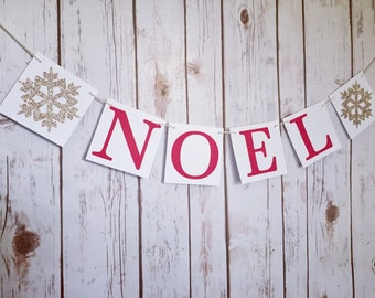 NOEL BANNER SIGN, noel christmas sign, vintage christmas banner, christmas mantle decor, christmas decorations, noel decor