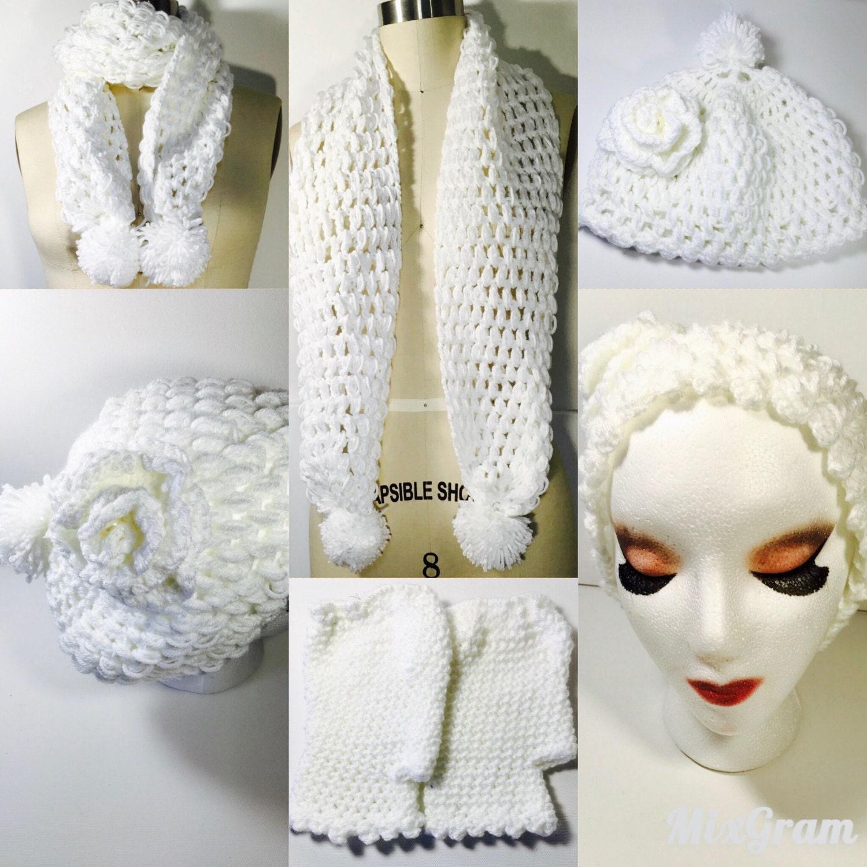 a93440285cc Handmade Crochet Winter Set ( scarf