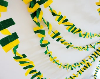 Rectangles garland, 515'' long banner, John Deere birthday banner, tractor party decor, confetti banner, farmers market bunting