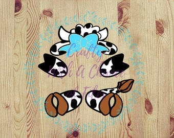 Cow Decal, Monogram Decal, Tumbler Decal, Cow Monogram Sticker, Cow Monogram Decal, Easter Basket Sticker, Farm Animal Decal, Vinyl Decal