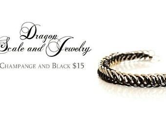 Black and Champagne bracelet