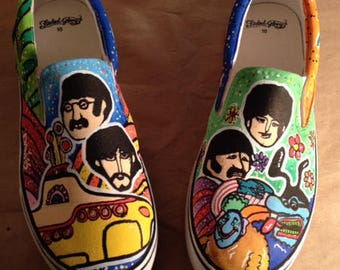 Yellow Submarine Slip On Sneakers – The Beatles – Sneakers – Music Decor