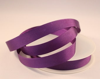 Grosgrain Ribbon, Purple Ribbon, 1 Meter Ribbon, 16mm Ribbon, Craft Ribbon, Sewing Supplies, Etsy Shop Supplies