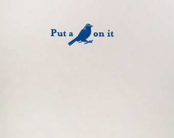 Put a Bird on it Letterpress Notecards