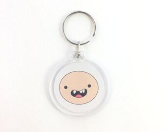 Adventure Time Finn the Human Keychain - Zipper Charm Yellow Party Favor
