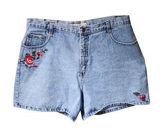 Floral Vintage High Waisted Shorts