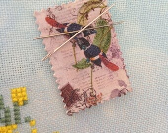 Bird Needle Minder, Needle Minder, Needle Keeper, Sewing Accessory