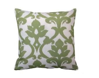 Green Accent Pillow - Green Throw Pillow - Green Throw Pillow Cover - Green Decorative Pillow - Green and White Accent Pillow - Green Pillow