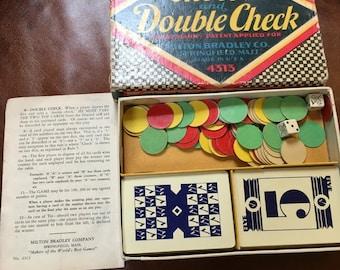 1930 Antique Game, Check and Double Check, Milton Bradley