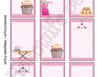 Iron, Happy Planner stickers [232] , Full box, A5 PDF, Instant download