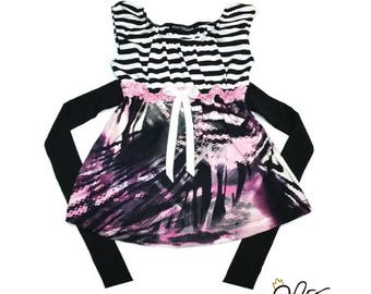 Scalable, scalable tunic, dress baby, dress girl dress, Zebra by MEF Creations Boutique