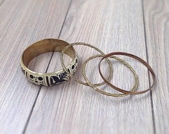 Vintage metal bangles