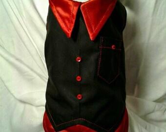 back and red elegant vest