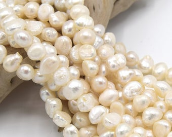 """Water pearls Sweet Onion Grade """"A"""" 8 ~ 9 mm Pearl mother of Pearl shell PC11 batch of 10/20 units or 1 stand"""