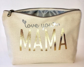 Mother's day personalized Makeup bag- cosmetic  bag-  Valentines gift- Mothers' day-  Pouches - Gifts for Mom - unique gift- Personalized co