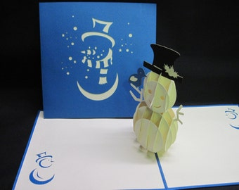 3-D Snowman Pop-Up Card