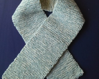 Winter Scarf In Sage Green & Ivory Color.Womans,Teens