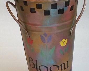 Medium Metal Vase CUSTOM ORDER