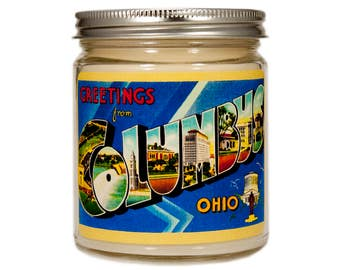 Columbus Ohio Gift, Columbus Ohio Candle, Ohio Gift, Scented Candle, Container Candle, Soy Candle, Candle Gift, Vintage Ohio
