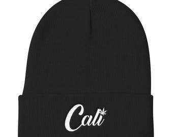 Cali Beanie - Weed Hat - 420 Beanie - California Hat - Hollywood Hat - Weed hat - Trendy Hat - Stoner Hat - Stoner Gifts - Gifts - Weed