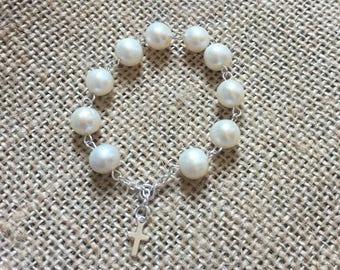 Fresh Water Pearl Pocket Rosary