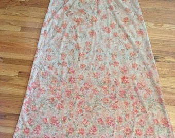 Vintage sheer floral nightgown