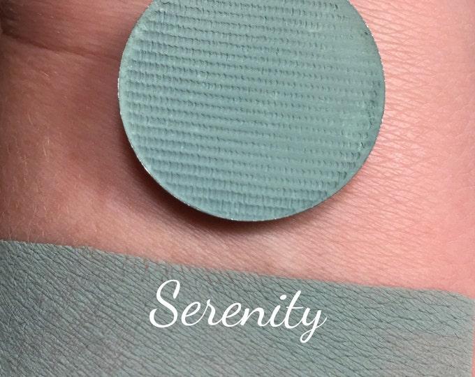 SERENITY- Pressed Matte Eyeshadow- Teal / Blue Green