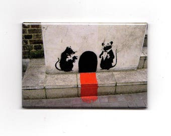 Banksy - Curbside Red Carpet Magnet