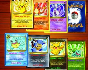 Pokemon Thank You Card | Pokemon Greeting Card | Pokemon birthday party | Pokemon Theme | Instant Download | Printable File | pokemon party