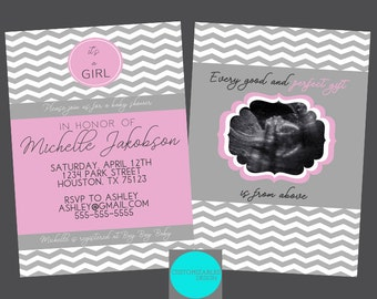 Baby Girl Shower Invitation | DIGITAL FILE  | 5x7