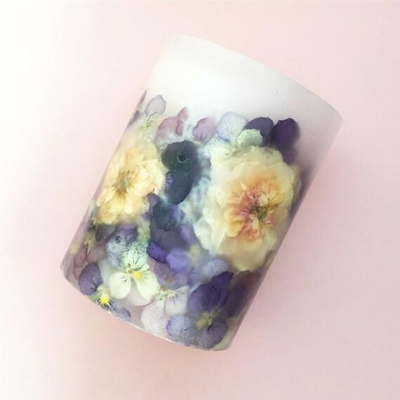 Botanical Candle (L) - Viola & Rose