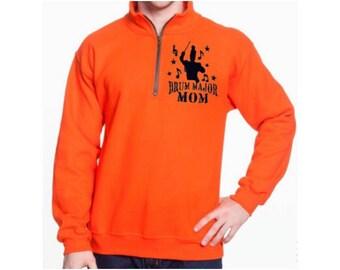 Drum Major Mom Quarter Zip Sweatshirt Pullover Band