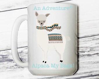 Adventure Coffee Mug - Adventure Mug - Alpaca My Bags Coffee Mug - Coffee Mug - Alpaca - Alpaca Coffee Mug - Alpaca Mug - Cute Coffee Mug