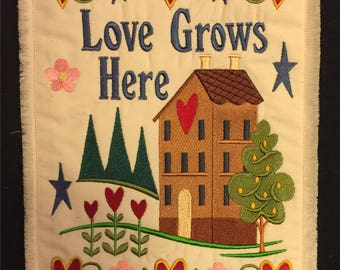 Love Grows Here Mini Wall Quilt