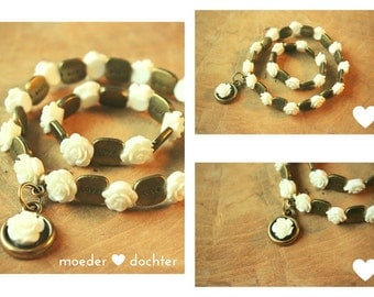 Mother daughter bracelet-LOVE-