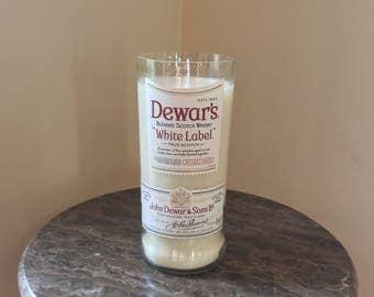 Dewars Scotch Whiskey Bottle Candle
