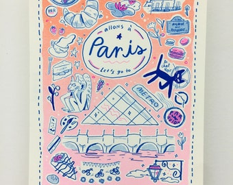 Let's Go To Paris / Small Travel Print 2nd Edition