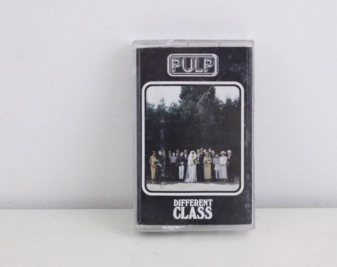 Vintage cassette tape, Pulp Different Class, 1995 Islands Records Ltd, vintage music cassette
