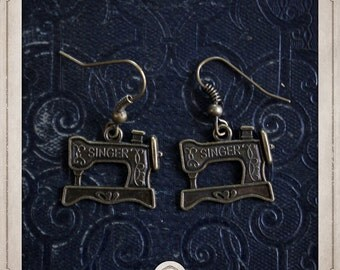 MACHINE sewing Singer bronze earrings BOB052
