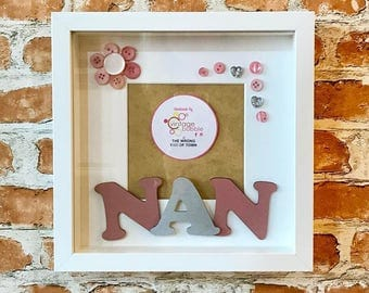 Nan Button Photo Frame